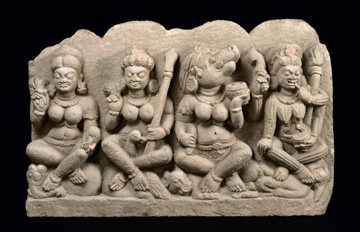 Fig. 19. Four of the seven Mother Goddesses.