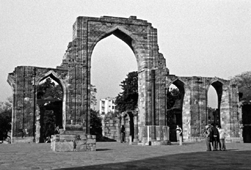 Mosque of Qutb al-Din Aibeg at the Qutbi Complex. Delhi. Founded 1192-1193.