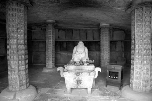Interior of Leiyin Cave. Shijing Mountain, Fangshan, Beijing.