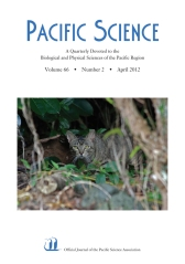 Pacific Science Vol. 66 Issue 2
