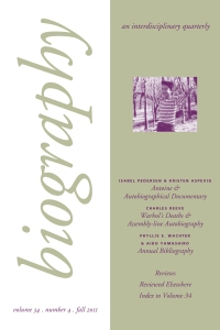 Biography 34-4 cover