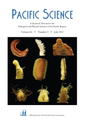 Pacific Science, vol. 66, issue 3 cover