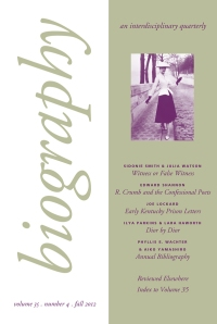 Biography 35-4 cover