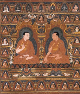 Gorampa with Jetsun Kunga Wangchuk, early 16th century. Private Collection.