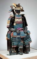 Anonymous (Japan), Iroiro odoshi do-maru armor (multicolored lacing scale armor), Edo period (1603–1868), 18th century. Sculpture, metal, textile, doeskin and lacquer. Assembled on box (approx.): 139.7 × 68.6 × 68.6 cm. Toledo Museum of Art, 2013.26. Gift of the Winfield Foundation, by exchange.